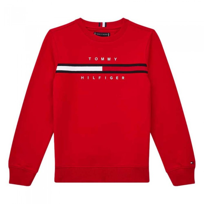 [해외]타미힐피거 KIDS Flag Rib Insert Sweatshirt 15138054680 Deep Crimson