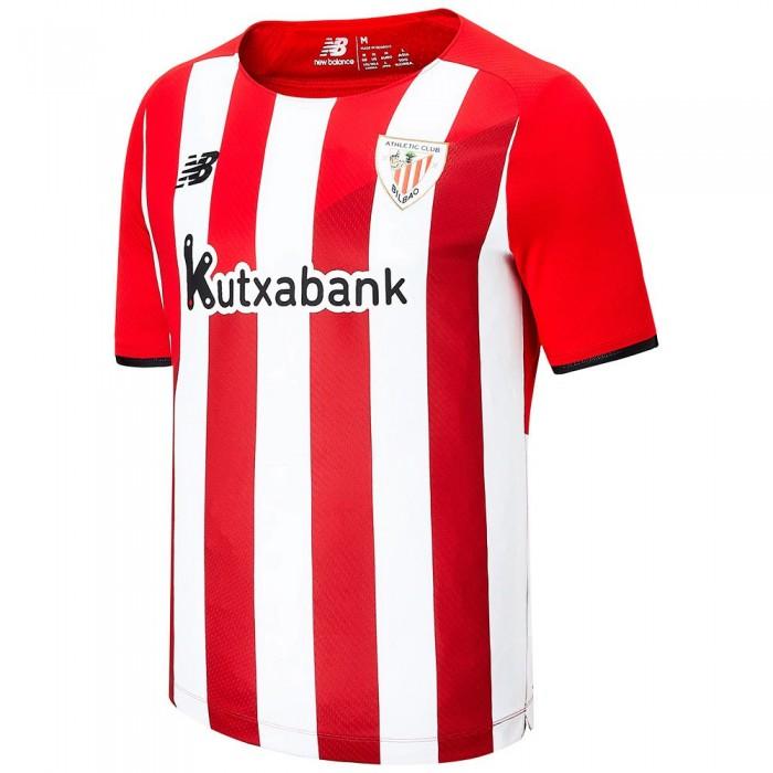 [해외]뉴발란스 Athletic Club Bilbao 21/22 Home Short Sleeve T-Shirt 3138121834 Red / White