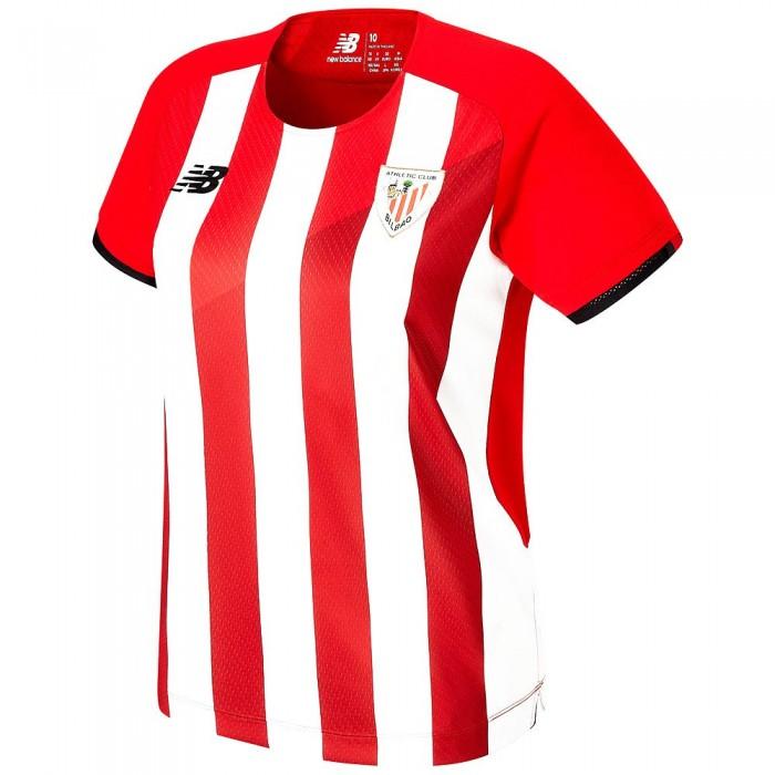 [해외]뉴발란스 Athletic Club Bilbao 21/22 Woman Short Sleeve T-Shirt 3138121860 Red / White