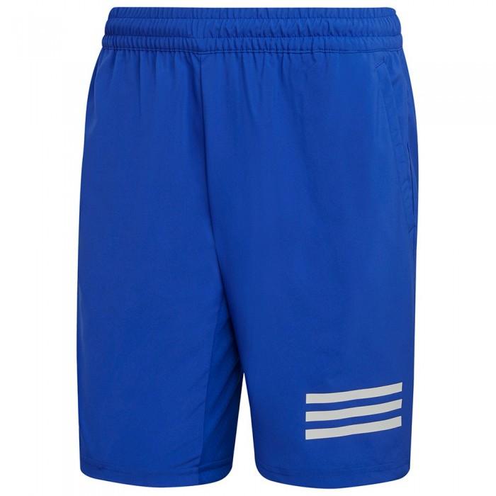 [해외]아디다스 BADMINTON Club 3 Stripes Shorts 12138110041 Bold Blue / White