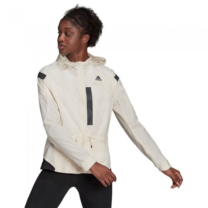 [해외]아디다스 Marathon Jacket 6138109858 Wonder White / Black