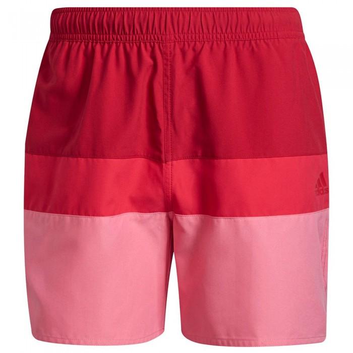 [해외]아디다스 Block CLX Beach Swimwear 6138108742 Team Victory Red / Rose Tone