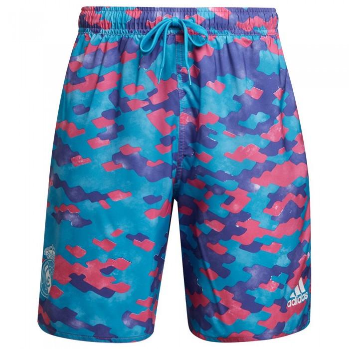 [해외]아디다스 Real Madrid CLX CL Beach Swimwear 6138109110 Pink / Purple / Shock Cyan