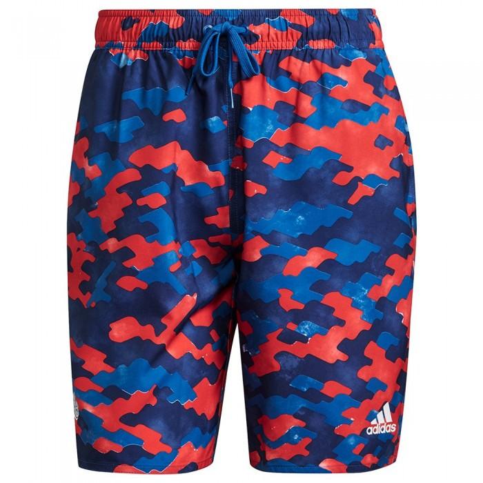 [해외]아디다스 FC Bayern Munich CLX CL Beach Swimwear 6138109111 Dark Marine / Fcb True Red / Dark Blue