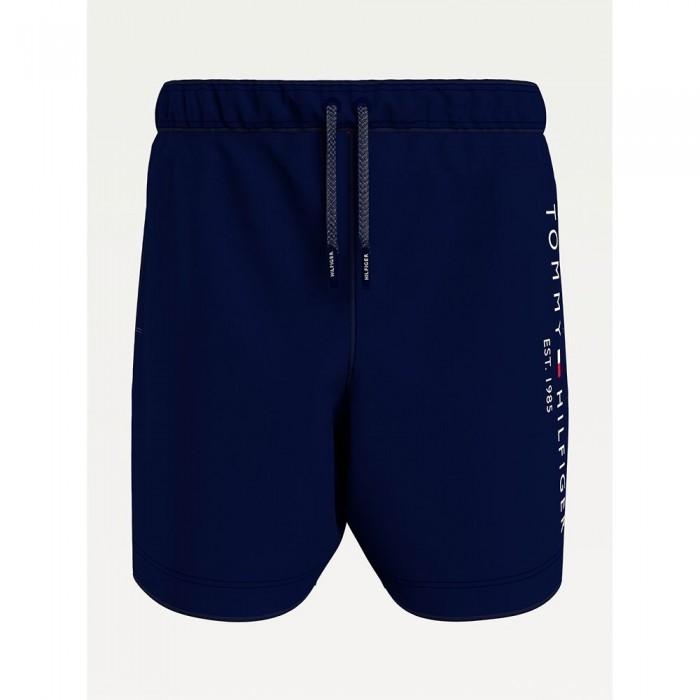 [해외]타미힐피거 언더웨어 Logo Regular Fit Mid Length Swimming Shorts 15138136078 Desert Sky