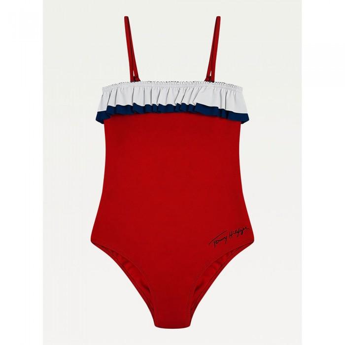 [해외]타미힐피거 언더웨어 Ruffle Swimsuit 15138136093 Primary Red