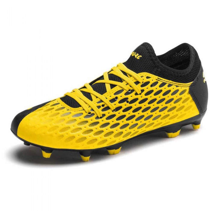 [해외]푸마 Future 5.4 FG/AG Football Boots 15137358521 Ultra Yellow / Puma Black