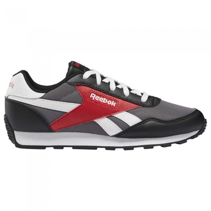 [해외]리복 Royal Rewind Run Trainers 15138136374 Pure Grey 6 / Black / Vector Red