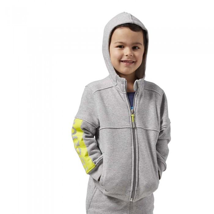 [해외]리복 Essentials Fleece Full Zip Sweatshirt 15136108287 Medium Grey Heather