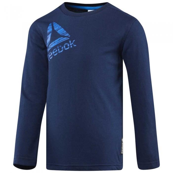 [해외]리복 Boys Essentials Long Sleeve T-Shirt 15136586749 Collegiate Navy