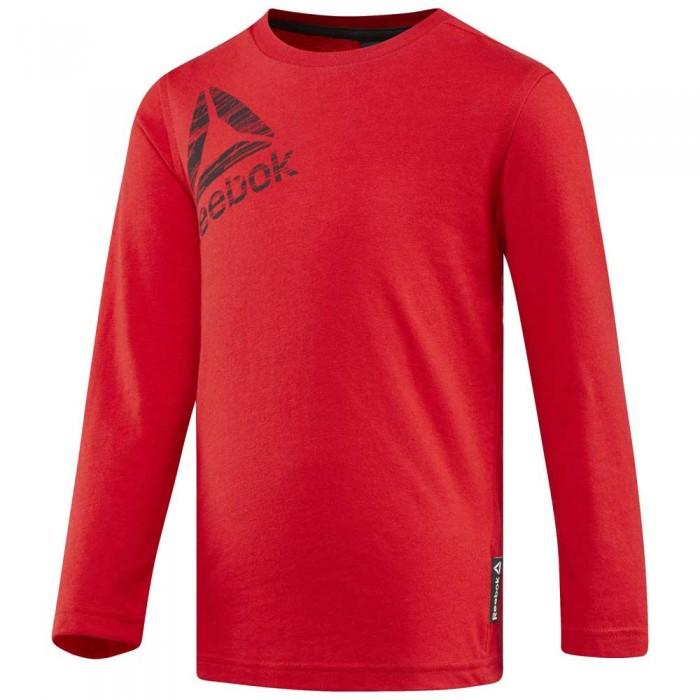 [해외]리복 Essentials Long Sleeve T-Shirt 15136586750 Primal Red S17-R