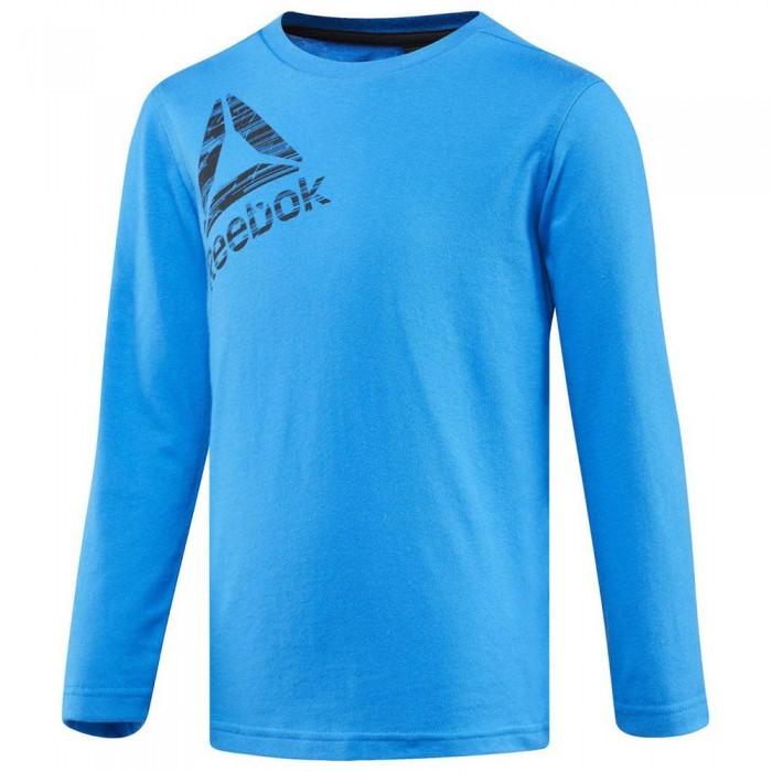 [해외]리복 Essentials Long Sleeve T-Shirt 15136586751 Risk Blue F13-R