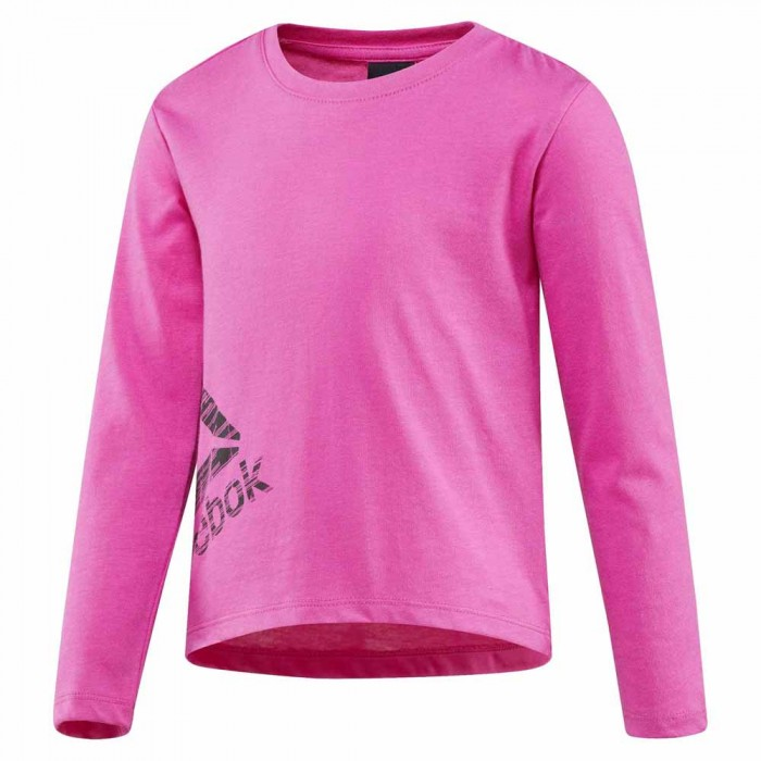 [해외]리복 Girls Essentials Long Sleeve T-Shirt 15136586876 Charged Pink F15-R