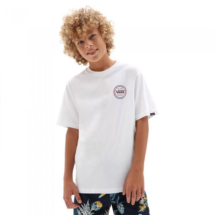 [해외]반스 Authentic Checker Short Sleeve T-Shirt 15137882560 White