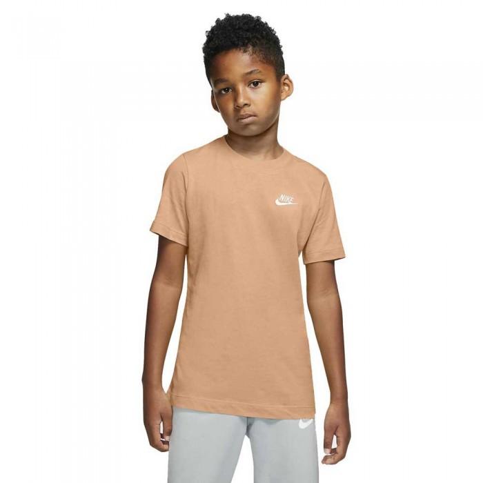 [해외]나이키 Sportswear Short Sleeve T-Shirt 15138030180 Orange Chalk / White