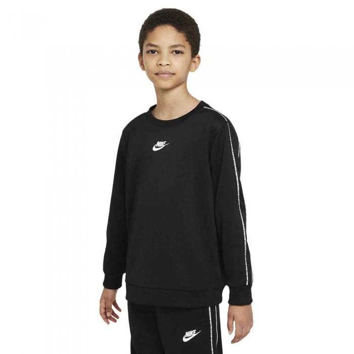 [해외]나이키 Sportswear RepeaPk Crew Long Sleeve T-Shirt 15138030575 Black / White