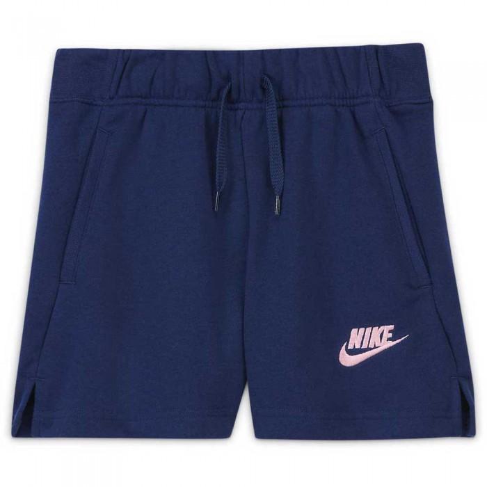 [해외]나이키 Sportswear Club French Terry Shorts 15138031329 Blue Void / Arctic Punch