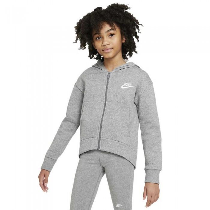 [해외]나이키 Sportswear Club Fleece Full Zip Sweatshirt 15138031736 Carbon Heather / White
