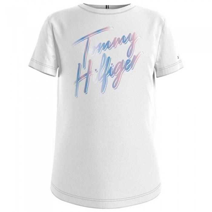 [해외]타미힐피거 KIDS Script Print Short Sleeve T-Shirt 15138054756 White