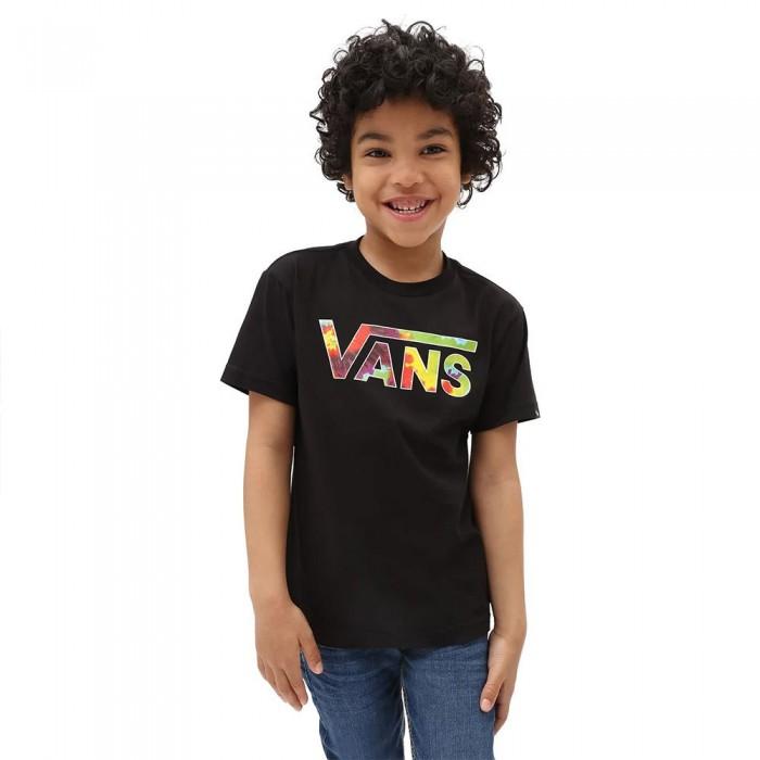 [해외]반스 Classic Logo Fill Short Sleeve T-Shirt Kids 15138122125 Black / Spiral Tie Dye