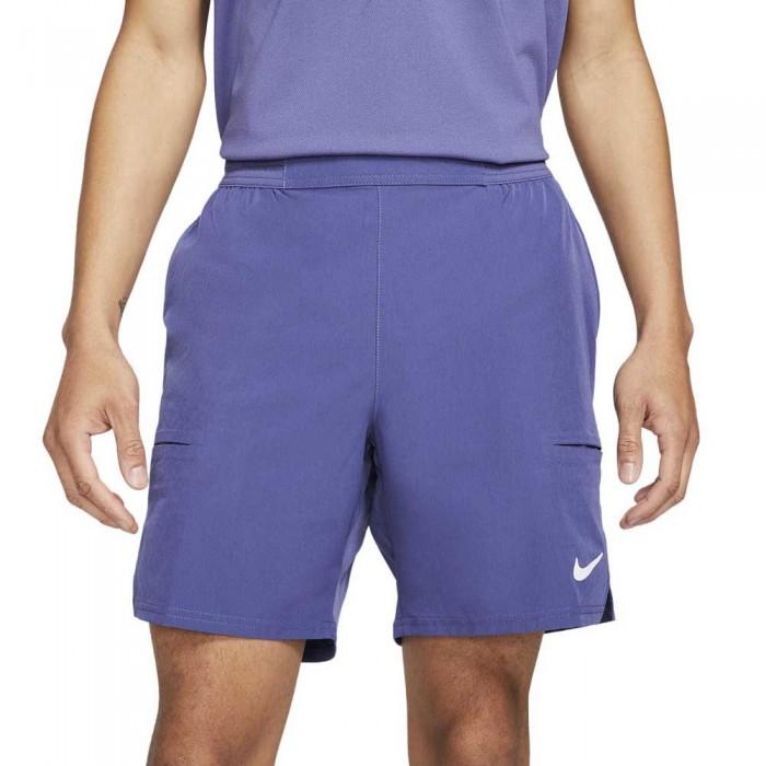 [해외]나이키 Court Dri Fit Advantage 7´´ 12138030619 Dk Purple Dust / White