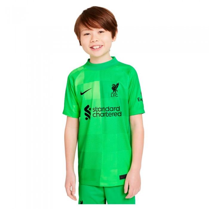 [해외]나이키 Liverpool FC Stadium Goalkeeper 21/22 Junior 15138030984 Green Spark / Black