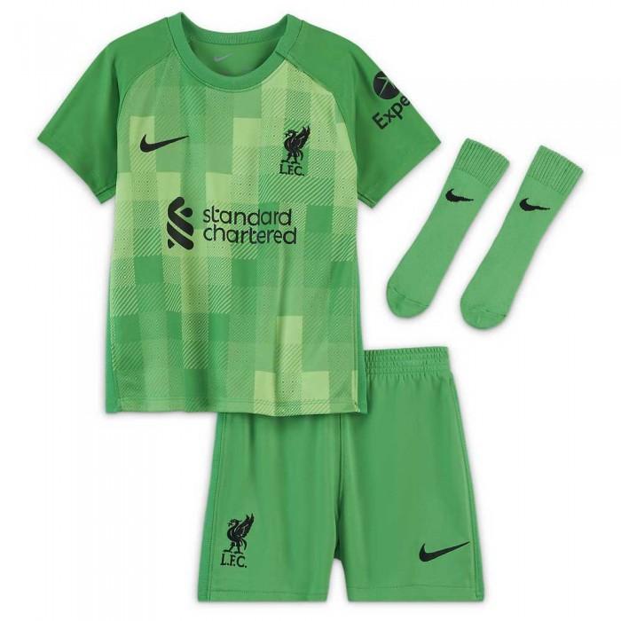 [해외]나이키 Liverpool FC Goalkeeper Infant Kit 20/21 15138031423 Green Spark / Black