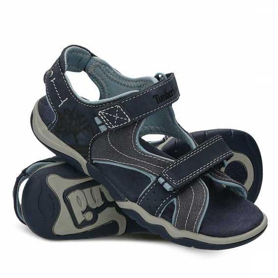 [해외]팀버랜드 Park Hopper Leather Fabric Youth Sandals 15136759934 Black Iris