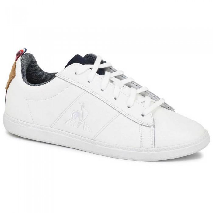 [해외]르꼬끄 Court Classic GS Trainers 15137442531 Optical White / Brown