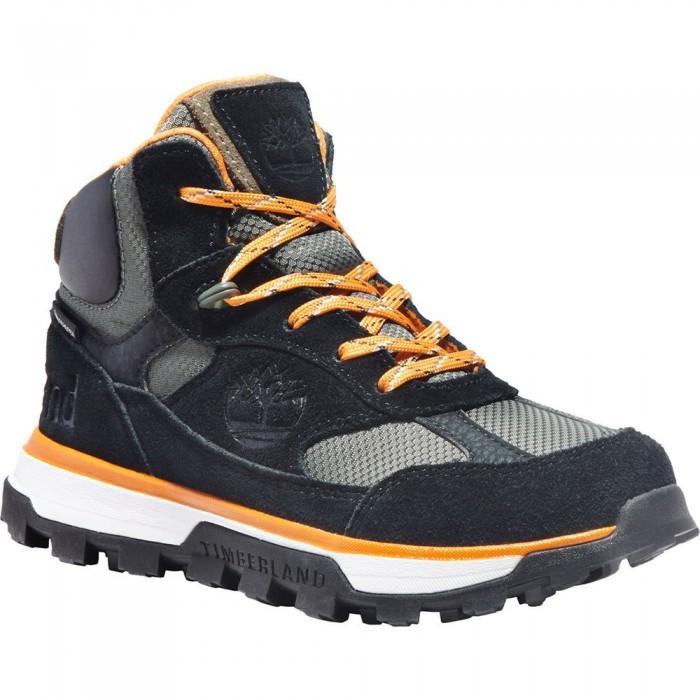 [해외]팀버랜드 Trail Trekker Mid Hiker Goretex Junior Hiking Boots 15137707473 Jet Black
