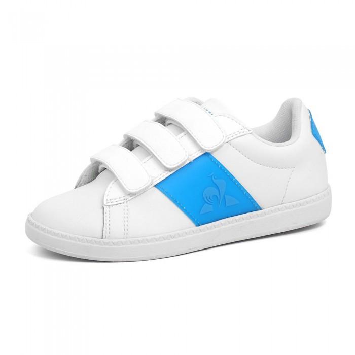 [해외]르꼬끄 Court Classic Neon PS Trainers 15137890989 Optical White / Atomic Blue