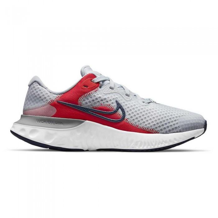 [해외]나이키 Renew Run 2 GS Trainers 15138031608 Pure Platinum / Deep Ocean / Chile Red