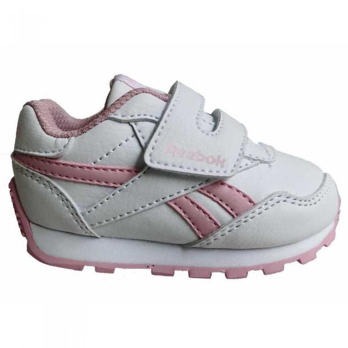 [해외]리복 Royal Rewind Run Velcro Trainers Infant 15138117535 White / Classic Pink / Classic Pink