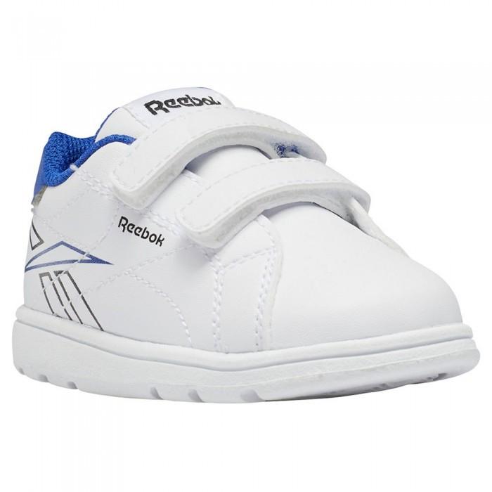 [해외]리복 Royal Complete CLN 2.0 2V Velcro Trainers Infant 15138117673 Ftwr White / Ftwr White / Bright Cobalt