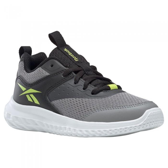 [해외]리복 Rush Runner 4.0 Trainers 15138118039 Pure Grey 5 / Black / Acid Yellow