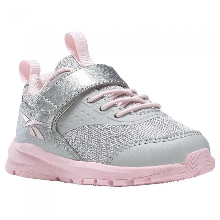 [해외]리복 Rush Runner 4.0 TD Velcro Trainers Infant 15138118042 Lgh Solid Grey/Silver Met / /Porcelain Pink