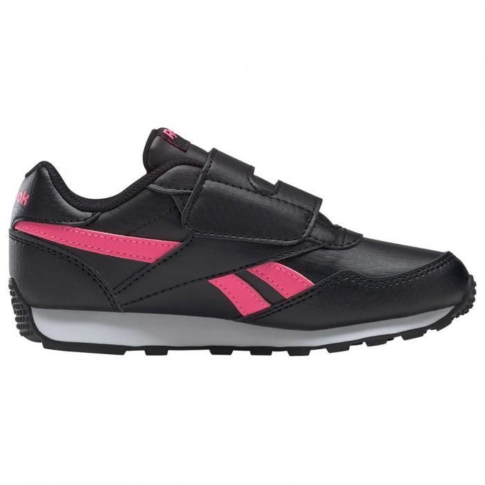 [해외]리복 Royal Rewind Run Velcro Trainers 15138118073 Black / Solar Pink