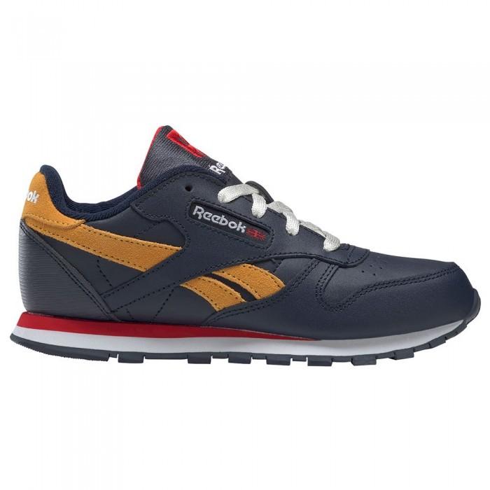 [해외]리복 CLASSICS Leather Trainers 15138118920 Vector Navy / Vector Red / Collegiate Gold