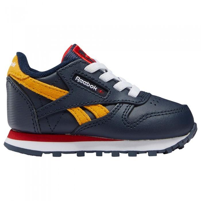 [해외]리복 CLASSICS Leather Trainers Infant 15138118922 Vector Navy / Vector Red / Collegiate Gold