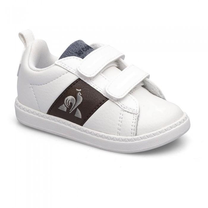 [해외]르꼬끄 Courtclassic Trainers Infant 15138130828 Optical White / Dark Brown