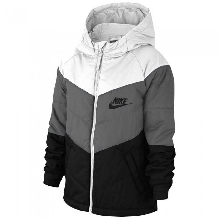 [해외]나이키 Sportswear Full Zip Sweatshirt 15137482856 White / Smoke Grey / Black