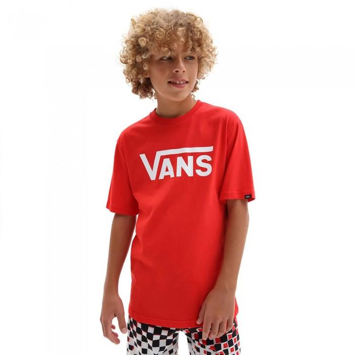 [해외]반스 Classic Boys Short Sleeve T-Shirt 15137881764 High Risk Red / White