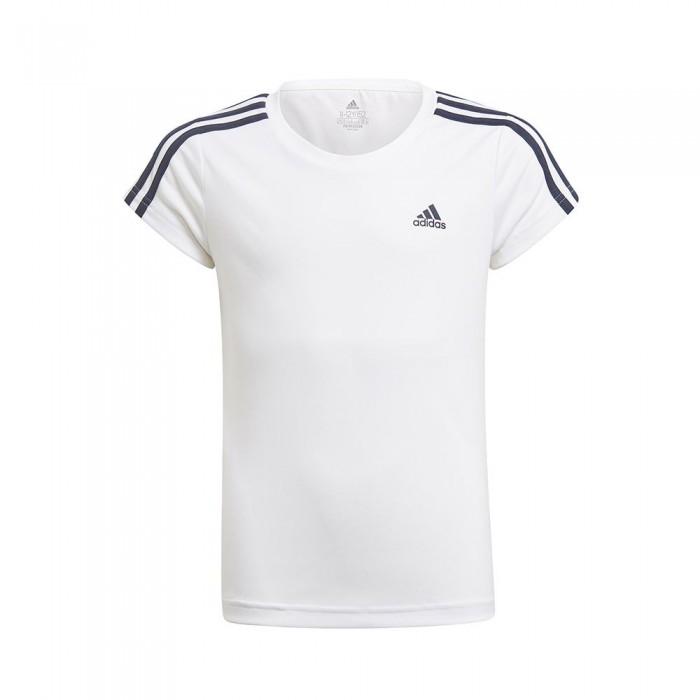 [해외]아디다스 Designed 2 Move 3 Stripes Short Sleeve T-Shirt 15137899505 White / Legend Ink