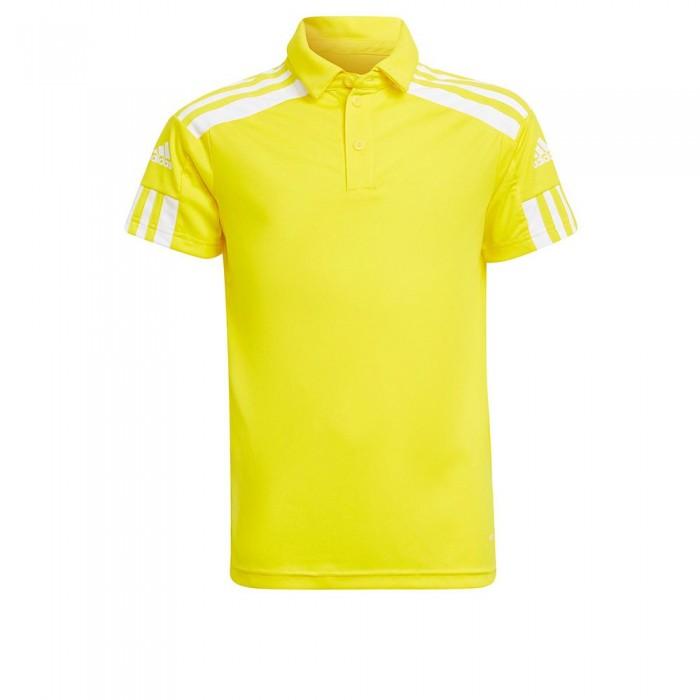 [해외]아디다스 Squadra 21 Short Sleeve Polo Shirt 15137899801 Team Yellow / White