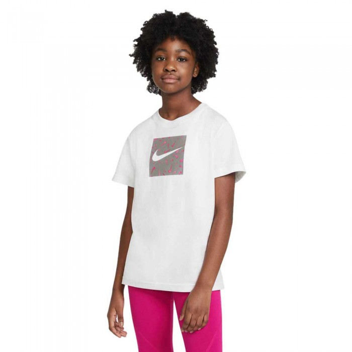[해외]나이키 Swooshfetti Short Sleeve T-Shirt 15137982514 White / Sunset Pulse
