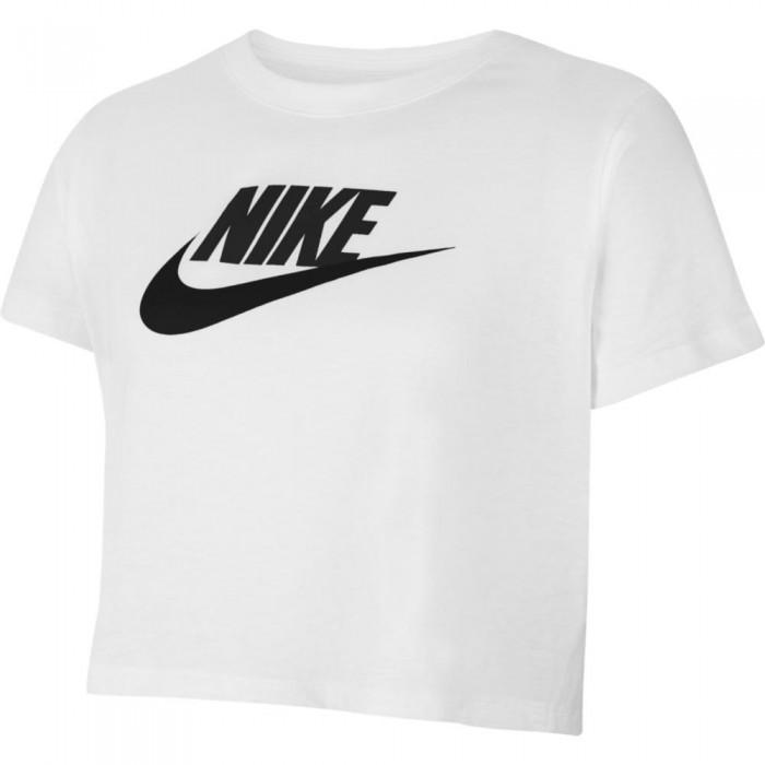 [해외]나이키 Cropped Short Sleeve T-Shirt 15137983105 White / Black / Black