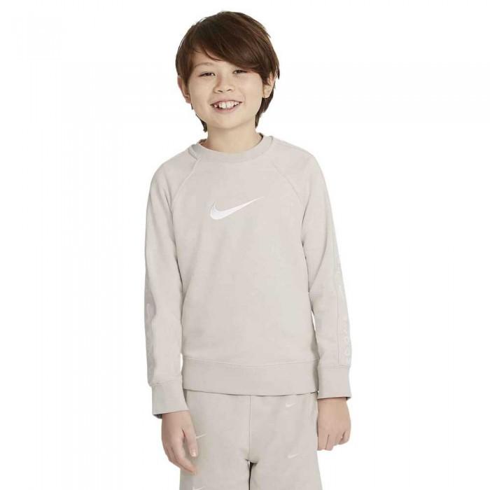 [해외]나이키 Sportswear Swoosh Crew Long Sleeve T-Shirt 15138030622 Desert Sand / White