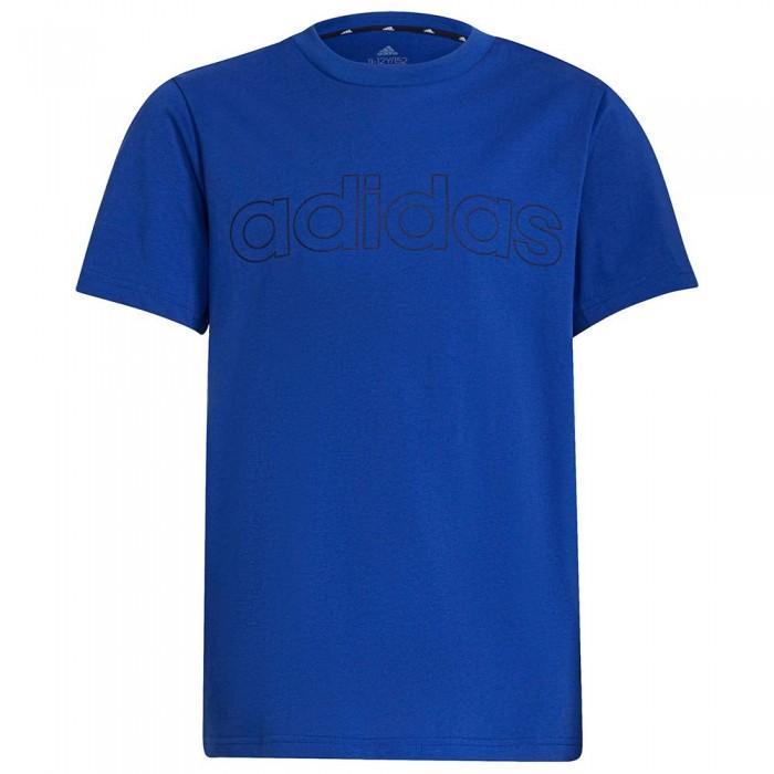 [해외]아디다스 Lin Short Sleeve T-Shirt 15138107902 Bold Blue / White
