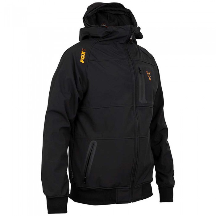 [해외]FOX INTERNATIONAL Shell Full Zip Sweatshirt Refurbished 8138135006 Black / Orange