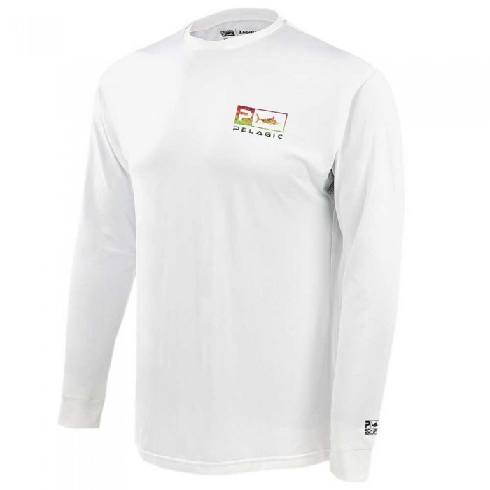[해외]PELAGIC Aquatek Icon Long Sleeve T-Shirt 8137894679 White Rasta Hex